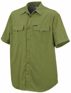 Columbia Silver Ridge Ss Shirt Chemise randonnée homme Grasshopper MHW XXL