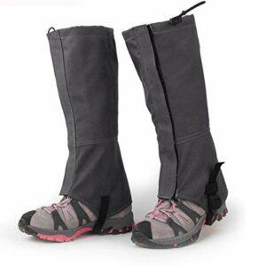 DaMohony 1 paire de couvre-chaussures en tissu Oxford 600D imperméable pour bottes de neige pour extérieur, randonnée, escalade, ski