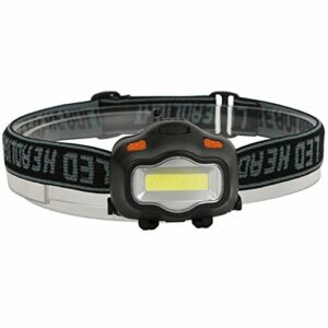 DAUERHAFT Lampe de Poche de Phare, Phare Rechargeable LED Ultra-léger et étanche, 3 Modes pour Le Camping, la randonnée, la Chasse, la pêche de Nuit, Les réparations d'urgence et à Domicile(Noir)