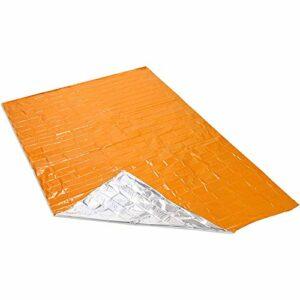 DHJZS Feuille Thermique de Survie Tapis d'extérieur de Premiers Soins de Secours Trousse de Survie Gardez Couchage Chaud Sac d'hébergement d'urgence Couverture Camping Mat (Color : Orange)