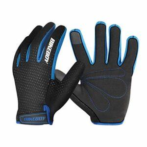 DishyKooker Gants d'équitation Doigts Pleins Chauds Coupe-Vent écran Tactile Montagne Gants de Moto Hommes et Femmes matériel d'équitation de Motocross Noir Bleu M
