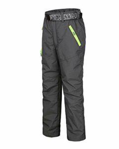 Fille Garçon Coupe-Vent Sport en Plein Air Pantalon Imperméable Pantalon De Randonnée Pantalon Softshell Enfant Pantalon Trekking d'escalade Pantalons Gris 3XL