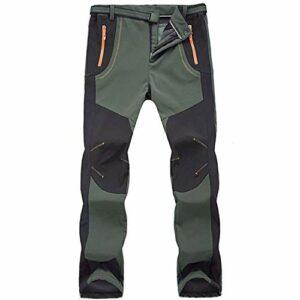 Freiesoldaten Pantalon de randonnée pour homme en softshell imperméable coupe-vent avec ceinture