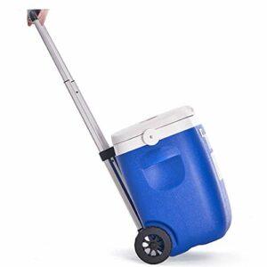 FSJKZX Extérieur Glacière Portable 16L26L36L Voiture PU Chariot incubateur d'extérieur d'échantillonnage Réfrigérateur Famille Gathering Camping Food Box (Color : Blue, Size : 41 * 26 * 43cm)