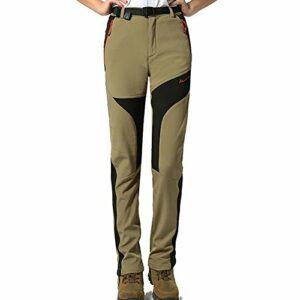 GITVIENAR Femme Pantalon Étanche Pantalons Coupe-Vent à Rapide pour Camping et Randonnée Pêche Escalade en Plein Air Épaississement de la Chaleur