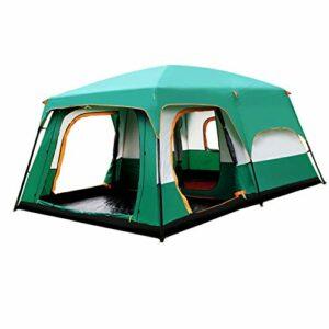 GLY Camping géant Tente d'extérieur for la Famille 12 Personnes Tente extérieure Double Couche étanche à Deux Chambres Une Salle géante Tente for la randonnée, pêche, Camping et activités Société