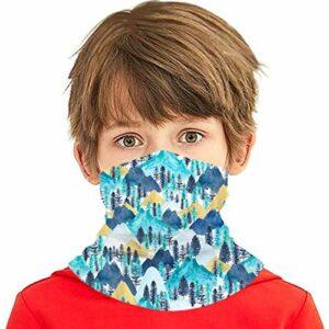 hdyefe Le Bandeau de Tube de cagoules de Couverture de Tissu d'appel de Montagnes pour la Protection Solaire de poussière d'enfants