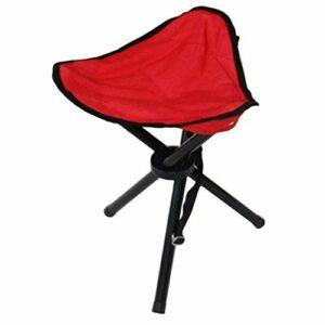 JALAL Trépied extérieur Tabouret Portable Pliable Petite Chaise en Toile à 3 Pattes pour la randonnée Camping pêche