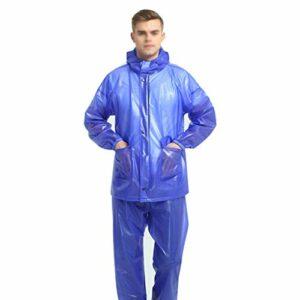 JMAR Imperméable PVC Combinaison Extérieure Fendue Moto Adulte Vêtements Imperméables a La Pluie pour Camping Randonnée NY Activités de Plein Air Choix Idéal