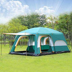 kyman 4-6 Personne Grande Tente de Camping familiale Étanche Double Partie extérieure Deux Chambre Turnproof 4 Saison Beach Hutt Tente de Camping Automatique