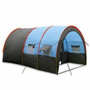 kyman Camping Tente Tunnel Tente, Camping Unique Deux Chambres Portable Portable Poubelle à la Poubelle et à l'insecte Portable, 480 * 310 * 210cm Tente de Camping Automatique