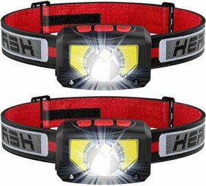 Lampe frontale LED rechargeable USB 1000 lumens COB LED – 80 g – Étanche IPX5 pour la course, le camping, la randonnée, la chasse, l'escalade, les enfants