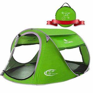Leilims Extérieur 3-4 Personnes Tente Vitesse Automatique Tente Ouverte Tente Camping Plage, Convient, Pique-Nique, Escalade, pêche, Aventure, Coupe-Vent, 240 * 180 * 100cm (Color : 2)