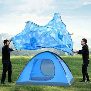 Leilims Main extérieure Tente de Camping avec Poteau en Aluminium Tente 3 Personnes Tente extérieure Escalade Tente Double Porte, for Les Parcs, Camping, Plage, Pique-Nique, pêche, 300 * 210 * 135cm