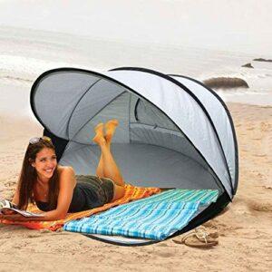 Leilims Plage Protection Solaire Tente auvent 3-4 Personnes Vitesse extérieure Automatique Tente Ouverte pêche Pliable à Double Tente, Survie étanche, Sauvage, Escalade, pêche, 130 * 130 * 105cm
