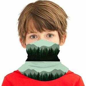 Les Montagnes sont Plus Vertes à l'aube, Housse Lavable, écharpe pour Enfants, Bandana pour Enfants