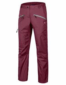 Little Donkey Andy Pantalon de pluie imperméable pour femme – Respirant – Pour la randonnée – Bordeaux – Taille M