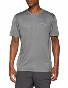 Marmot Windridge Short Sleeve T-Shirt Manche Courte, Chemise de randonnée, idéal pour Le Sport, la Gym, séchage Rapide, Respirant Homme, Cinder, FR : M (Taille Fabricant : M)