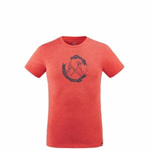 Millet – Old Gear TS M – T-shirt Sport Homme – Respirant – Randonnée, Approche, Lifestyle – Rouge