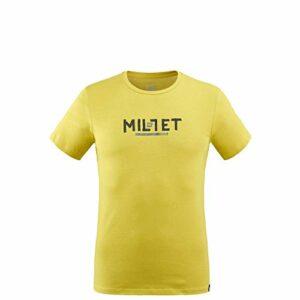 Millet – Tape Logo TS M – T-shirt Sport Homme – Respirant – Randonnée, Approche, Lifestyle – Gris