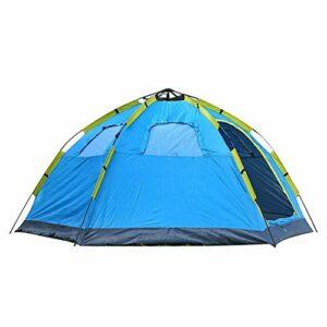 Monocouche grande tente hexagonale automatique tente rapide ouvert 5-8 personnes tente randonnée tente de camping en plein air, Convient for les pique-niques, la survie sauvage, escalade, 305 * 240 *