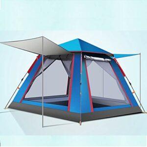 Monthyue Tentes pour 3 Personnes pour Le Camping Tente Pop-up étanche Double Couche Anti-UV pour La Plage Voyage en Plein Air Randonnée Camping Chasse Pêche,Blue