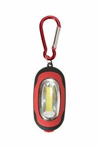 Mountain Warehouse Mini Lanterne avec Mousqueton – Lampe COB – Mousqueton léger – Résistante – Durable – pour Le Camping, la randonnée, Le Trekking ou la Marche à Pied Rouge Taille Unique
