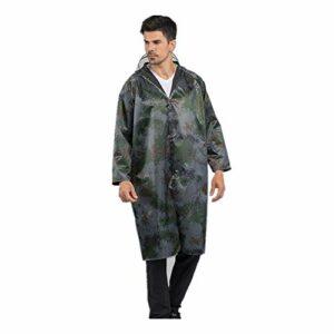 NBNBN Raincoat Rain Gear Camouflage Réfléchissant Poncho Imperméable Randonnée De Camping Randonnée Escalade en Plein Air Poncho Imperméable Coupe-Vent (Size : XXXL)
