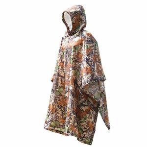 NBNBN Raincoat Rain Gear Multifonction Imper Lumière Randonnée Escalade en Plein Air De Camping Randonnée Poncho Imperméable Coupe-Vent (Couleur : Marron)