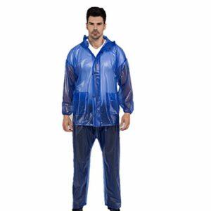 NBNBN Raincoat Rain Gear Waterproof Imperméable Léger Réutilisable Randonnée Camping Randonnée Escalade en Plein Air Poncho Imperméable Coupe-Vent (Size : XXXXL)