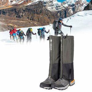 QIDIAN Gaiteurs de la Jambe extérieure, imperméabilisée et Respirant Ski Ski Boot Gaiters, Garde de la Jambe de Jambe enveloppements de la Jambe pour la randonnée à la Chasse à l'escalade,Vert,S