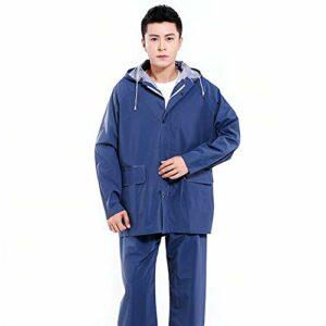 Raincoat Rain Gear Extérieur Imperméable Poche Imperméable Randonnée De Camping Randonnée Escalade en Plein Air Poncho Imperméable Coupe-Vent (Couleur : Navy, Size : XL)