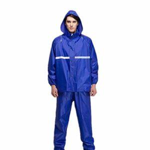 Raincoat Rain Gear Imperméable Réfléchissant Imperméable Randonnée Escalade en Plein Air Randonnée De Camping Poncho Imperméable Coupe-Vent (Couleur : Navy, Size : L)