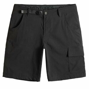 Shorts de Randonnée Homme Short de Sport Alpinisme Extérieur Loisirs Shorts de Baggy Légers Ample Respirant Séchage Ultra Rapide pour Escalade Plein Air, Gris Foncé, Size 38