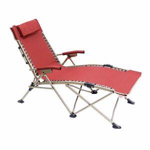 Tabouret Pliant for Patio, Piscine avec Chaise Oreiller Portable Zero Gravity Lounge Recliners Pêche Randonnée Pique-Nique Chaise de Jardin Barbecue