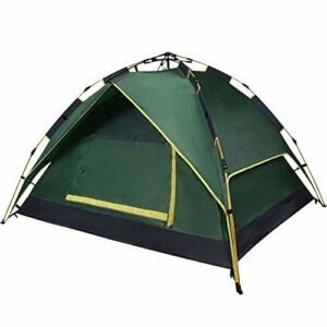 Tente de camping de la tente familiale Tente de camping de la tente Pop-up instantanée Protection UV étanche Sun Shelter 3-4 Personnes Douches portes Tente extérieure, Métal, Bleu, 220x190x120cm Tente