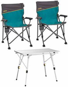 Uquip Bloody – Ensemble de Meubles de Camping Composé d'une Table en Aluminium et de 2 Chaises Pliantes