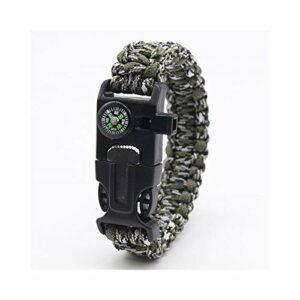 VROKLAPG Sécurité De Plein Air Survie Compas Bracelet Type De Montre-Bracelet Grattoir Sifflet Guide De Pointage Accessoires d'escalade