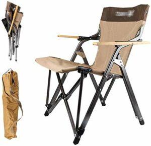 WYKDL Camping Tabourets Portable Tabourets Up D'ExtéRieur for De PêChe Léger légère et Solide Backpacking Randonnée Pique-Nique Pêche Plage Jardin 20 * 20,4 * 30,7 Pouces Brown