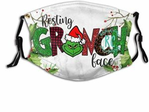 YeeATZ Masque facial respirant pour le repos, protection contre les UV, la poussière, la pollution, pour la pêche, l'escalade avec boucles d'oreilles réglables