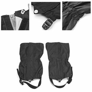 yihengya Yihya Imperméables Respirant 2 Pcs Guêtres Legging Gaiters Anti Neige Protection Coupe Vent Escalade Randonnée Camping Chasse Jambières
