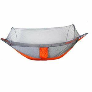 Yoyakie Hamac avec Moustiquaire Double Camping Hamacs Moustiquaire Étanche Portable Léger pour La Randonnée Montagnisme Voyage Extérieure Orange
