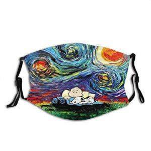 ZChun Face CO_ver Cagoule bandana pour le camping, la moto, la course à pied Motif Van Gogh
