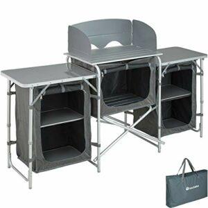 ZLYY Cuisine de Camping Aluminium Armoire mobilier Tente Placard d'extérieur Pliable