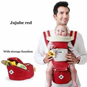 360 Ergonomique Porte-bébé Toddler Tush Tabouret pour toutes les saisons Souple Sling Baby Adapté au nouveau-né Randonnée Sac À Dos Carrier-Jujubered