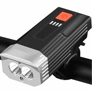 Aakrei USB Rechargeable Lumière De Vélo Phare Vélo Accessoires Set Équipement D'Équitation De Nuit Charge Lampe De Poche Lampe De Vélo De Montagne Vélo Corne Lumière pour Camping De Nuit