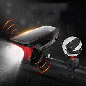 Aakrei USB rechargeable vélo lumière ensemble lumière de vélo phares éblouissement lampe de poche solaire charge corne nuit équitation lumières accessoires et équipement de vélo de montagne lumière de