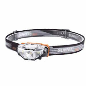 Accessoires lampe frontale Phares éclairage extérieur Feux de Camping à LED Feux de pêche de Nuit Feux d'entretien Feux de randonnée en Montagne (Color : Black)