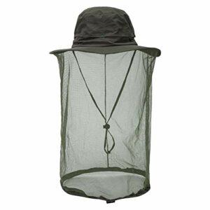 Akemaio Anti moustiquaire Chapeau pêche en Plein air Maille Chapeaux tête Protecteur de Visage Voyage Camping Casquette