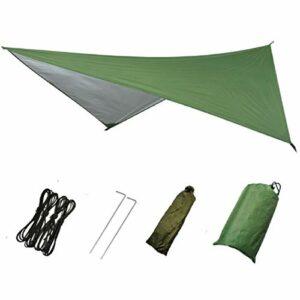 Azarxis Tarp Ultra Léger Bâche de Camping Anti-Pluie Tapis de Sol Parasol Couverture Abri de Plage Auvent Imperméable pour Tente Hamac Randonnée Pique-Nique (Vert)